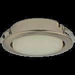 Ecola GX53 DL Светильник Встраиваемый (для твер. пов. и мебели) Сатин-Хром 28х93