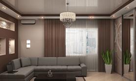 10 советов, как выбрать натяжной потолок для гостиной