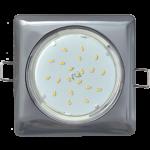 Ecola GX53 H4 Square светильник квадратный без рефл. Черный хром 107x41