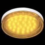 Ecola GX53 LED color 4,4W Tablet 220V Yellow Желтый прозрачное стекло 27x74