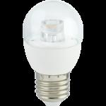 Лампа Ecola globe LED Premium 7.0W G45 220V E27 4000K прозрачный шар с линзой (композит) 84х45