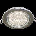 Ecola GX53 H4 светильник встраив. без рефл. chrome 38х106 - 2 pack