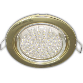 Ecola GX53 H4 Downlight without reflector_gold (светильник) 38x106 - 10 pack(0мб/2/3/4)