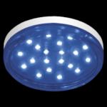 Ecola GX53 LED color 4,4W Tablet 220V Blue Синий прозрачное стекло 27x74
