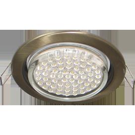 Ecola GX53 H4 светильник встраив. без рефл. чернёная бронза 38х106 - 2 pack