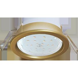 Ecola GX53 PD Светильник Встраиваемый глубокий легкий Золото 31x95