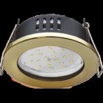 Ecola GX53 H9 защищенный IP65 светильник встраив. без рефлектора золото 98*55