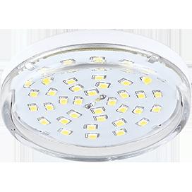 Ecola Light GX53 LED 8,0W Tablet 220V 2800K 27x75 прозрачное стекло 30000h