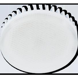 Лампа Ecola GX53 LED 8.5W Tablet 220V 6000K(ребристый алюм. радиатор) матовое стекло 27x75