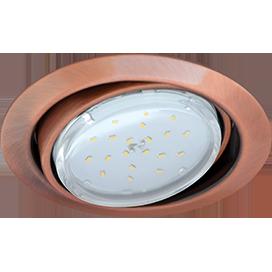 Ecola GX53 FT9073 светильник встраиваемый поворотный черненая медь (antique copper) 40x120