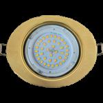 Ecola GX53 FT3238 светильник встр. без рефлектора Эллипс золото 41x126x106