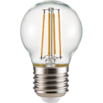 Ecola globe LED Premium 6,0W G45 220V E27 4000K 360° filament прозр. нитевидный шар (Ra 80, 100 Lm/W, КП=0) 68х45