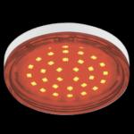 Ecola GX53 LED color 4,4W Tablet 220V Red Красный прозрачное стекло 27x74