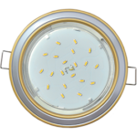Ecola GX53 H4 светильник встраив. без рефл. 2 цв. золото-серебро-золото 38х106