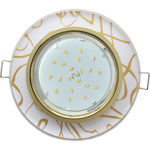 Ecola GX53 H4 Glass Стекло Круг золото - золото на белом 38x126