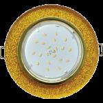 Ecola GX53 H4 Glass Стекло Круг золото - золотой блеск 38x126