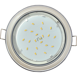 Ecola GX53 H4 светильник встраив. без рефл. 2 цв. серебро-жемчуг-серебро 38х106