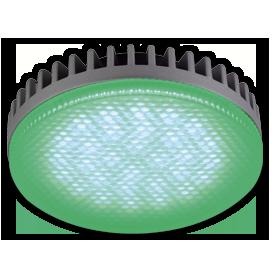 Ecola GX53 LED color 6,1W Tablet 220V Green Зеленый матовое стекло 28x74