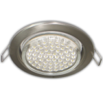 Ecola GX53 H4 Downlight without reflector_satin chrome (светильник) 38x106 - 10 pack