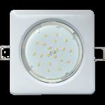 Ecola GX53 H4 Square светильник квадратный без рефл. Белый 107x41