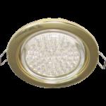 Ecola GX53 H4 светильник встраив. без рефл. gold 38х106 - 2 pack