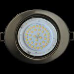 Ecola GX53 FT3238 светильник встр. без рефлектора Эллипс сатин-хром 41x126x106