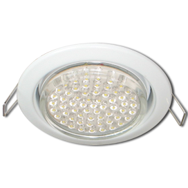 Ecola GX53 H4 Downlight without reflector_white (светильник) 38x106 - 10 pack