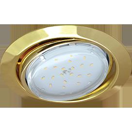 Ecola GX53 FT9073 светильник встраиваемый поворотный золото 40x120