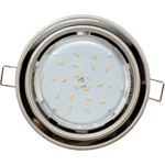 Ecola GX53 H4 светильник встраив. без рефл. 2 цв. жемчуг-черный хром-жемчуг 38х106