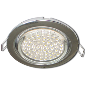 Ecola GX53 H4 Downlight without reflector_chrome (светильник) 38x106 - 10 pack