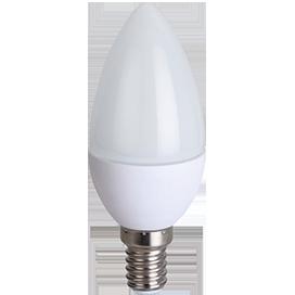 Ecola candle LED 8,0W 220V E14 4000K свеча (композит) 100x37