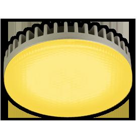 Ecola GX53 LED color 6,1W Tablet 220V Yellow Желтый матовое стекло 28x74