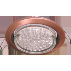 Ecola GX53 H4 светильник встраив. без рефл. чернёная медь 38х106 - 2 pack