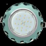 Ecola GX53 H4 Glass Стекло Круг с вогнутыми гранями хром - изумруд 38x126