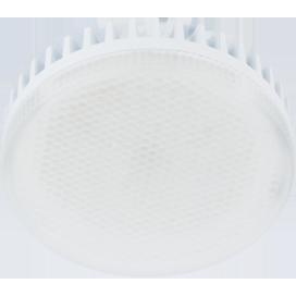 Лампа Еcola GX53 LED 10.0W Tablet 220V 4200K матовое стекло (ребристый алюм. радиатор) 27x75