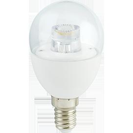 Лампа Ecola globe LED Premium 7.0W G45 220V E14 4000K прозрачный шар с линзой (композит) 90х45