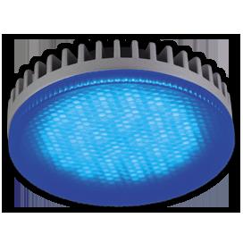 Ecola GX53 LED color 6,1W Tablet 220V Blue Синий матовое стекло 28x74