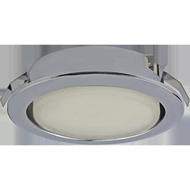 Ecola GX53 DL Светильник Встраиваемый (для твер. пов. и мебели) Хром 28х93
