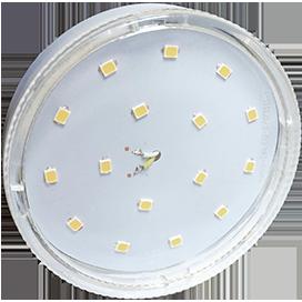 Ecola GX53 LED 8,5W Tablet 220V 4200K прозрачное стекло (композит) 27x75
