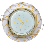 Ecola GX53 H4 Glass Стекло Круг с вогнутыми гранями золото - золото на белом 38x126