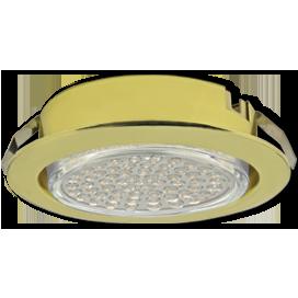 Ecola GX53 DL Светильник Встраиваемый (для тверд.пов. и мебели Золото 26х103