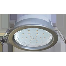 Ecola GX53 PD Светильник Встраиваемый глубокий легкий Серебро31x95