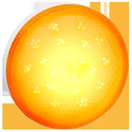 Ecola GX53 LED color 8,0W Tablet 220V Yellow Желтый матовое стекло (композит) 28x74