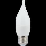 Лампа светодиодная Ecola candle LED Premium 7.0W 220V E27 2700K свеча на ветру (композит) 120х37