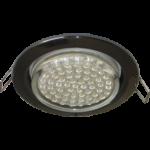 Ecola GX53 H4 светильник встраив. без рефл. черный хром 38х106 - 2 pack