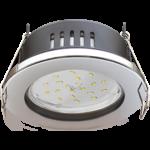 Ecola GX53 H9 защищенный IP65 светильник встраив. без рефлектора хром 98*55