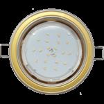 Ecola GX53 H4 светильник встраив. без рефл. 2 цв. жемчуг-золото-жемчуг 38х106