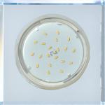 Ecola GX53 H4 Glass Стекло Квадрат скошенный край Хром - хром (зеркальный) 38x120x120 (к+)