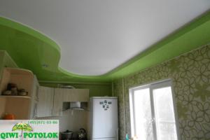 Двухуровневуй натяжной потолок
