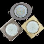 Квадратные и овальные светильники GX53
